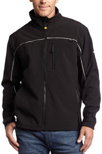 Caterpillar Men's Soft Shell Jacket (Regular and Big & Tall Sizes), Deep Black, X Large