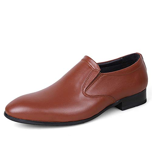 taglia da Bianco Brown casual lavoro codice scarpe Leather 40 2018 Jiuyue e British shoes Light Dimensione Uomo Scarpe scavate da uomo Pelle del formali EU cavo Color Scarpe Oxford w8Bqfxqnz