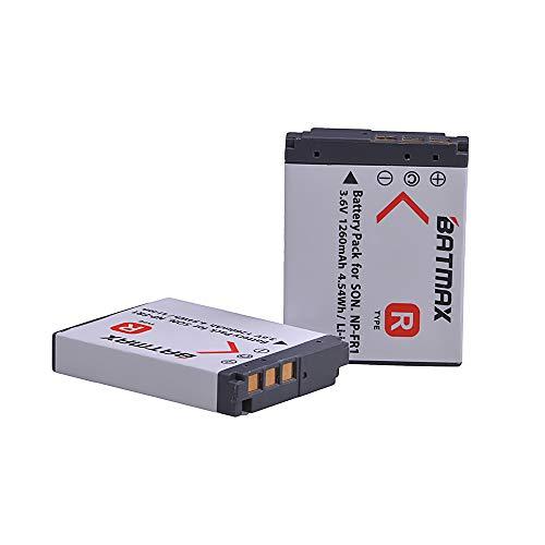 Batmax 2Pcs NP-FR1 NP FR1 Camera Battery + Charger Kits for Sony DSC-P100/R DSC-P100/S DSC-P120 DSC-P150 DSC-P150/B DSC-P150/L DSC-P200 Cameras