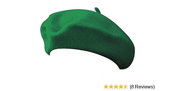 ffcb2e88b987c Amazon.com  Classic 100% Wool Green French Beret  Toys   Games