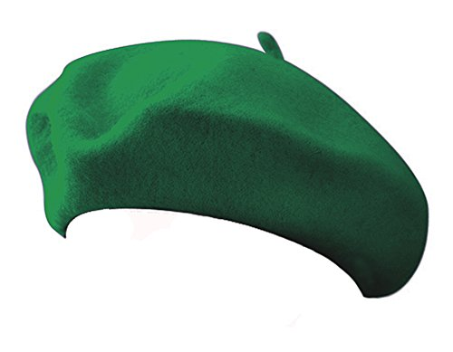 - Jacobson Hat Company Classic 100% Wool Green French Beret