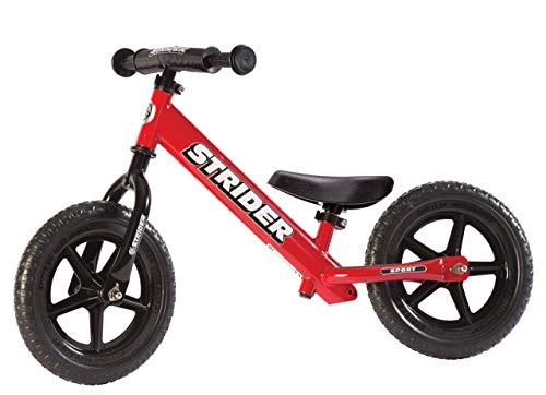 Strider - 12 Sport Balance Bike, Ages 18 Months to 5 Years, Red (Renewed)