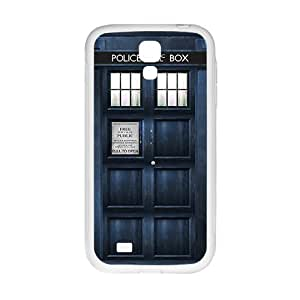 SKULL Blue police box Cell Phone Case for Samsung Galaxy S 4