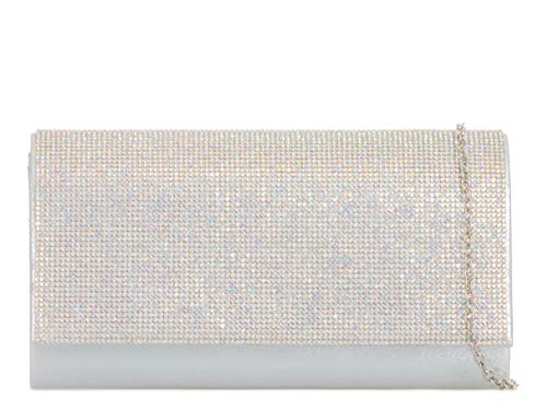 Evening Diamante Purse Bags Silver 2069 Handbags Ab Clutch Women's Prom LeahWard Wedding pOYw0q