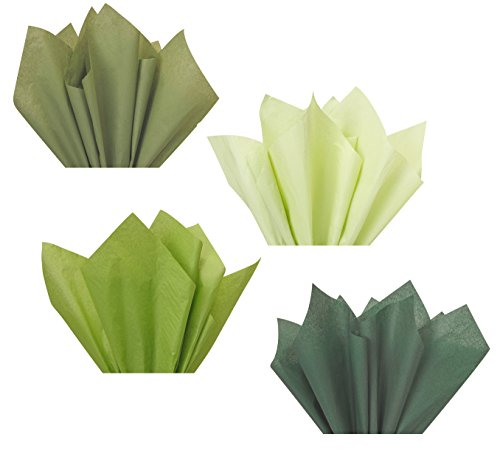 - Forest Sage Olive Moss Green Assorted Mixed Color Multi-Pack Tissue Paper for Flower Pom Poms Art Craft Wedding Bridal Shower Party Gift Bag Basket Filler Decoration