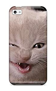 Tough Iphone EJGGXBE6914pwujF Case Cover/ Case For Iphone 5c(funny Cat Wink )