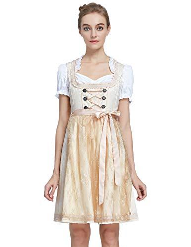 SCARLET DARKNESS Women's German Dirndl Oktoberfest Fancy Dress