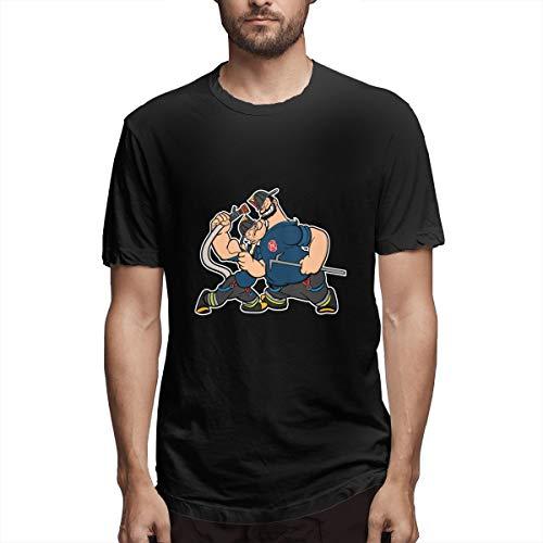 Fnh Bluto Popeye Cartoon Bluto Olive OYL Sailor Men's Tees M Black]()