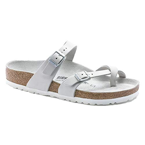 Birkenstock Women's Mayari Sandal White Nubuck Size 37 M EU