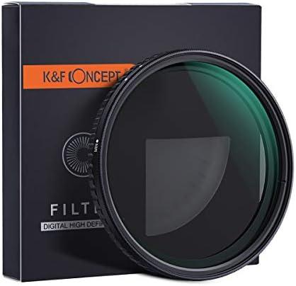 [スポンサー プロダクト]【国内正規品】 K&F Concept NANO-X バリアブル NDフィルター 77mm 減光範囲ND2~ND32 / MRCナノコーティング/X状ムラなし KF-77NDX2-32