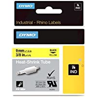 DYMO RhinoPRO Heat-Shrink Cable Label Tubes, 3/8-inch, 5 feet, Yellow (18054) by DYMO