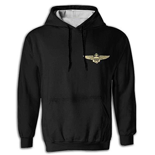 Naval Aviator Pilot Wings Men's 3D Sweatshirt Hoodie Pockets Pullover Hooded Men ()