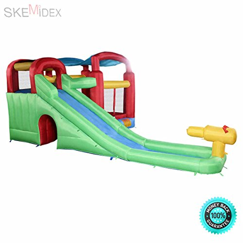 Water Slide Tubes - SKEMiDEX--- New Inflatable Moonwalk Water Slide Pool Bounce House Jumper Bouncer Castle Long fill tube keeps blower away from bounce Easy to setup & take down; instructions included