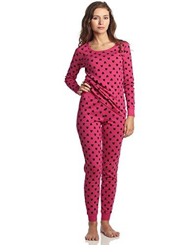 Check Set Pj (Leveret Women Hearts 2 Piece Pajama Set 100% Cotton Large)