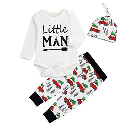 Baby Bottoms Adult (Newborn Baby Car Spring Clothes Romper Tops +Long Pants Outfit Set (0-6 Months, Little Man))