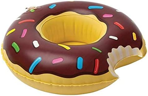 Chocolate Donut Cup Holder Inflatable Drink Pool Floats