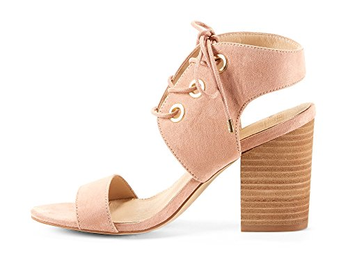 Block Comfortable Shoes Heel from amp; KOFA Perfect Womens Casual Summer for Yellow Microfiber Gladiator Made Sandals Medium Pink XIwz4d