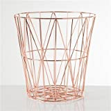 Torre & Tagus Rose Gold Diamond Weave Wire Storage Basket Large (Small Image)