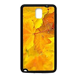 Autumn Maple Leaves Black Phone Case for Samsung Galaxy Note3 wangjiang maoyi