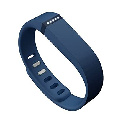 AFUNTA Set Large L Replacement Band with Clasps for Fitbit FLEX Only /No tracker/ Sport Wristband Bracelet (Navy)