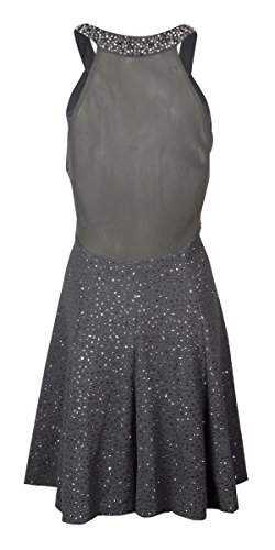 Betsy&Adam Halter Beaded Neck Dress Women's Sheath Gray 4 by Betsy & Adam (Image #2)