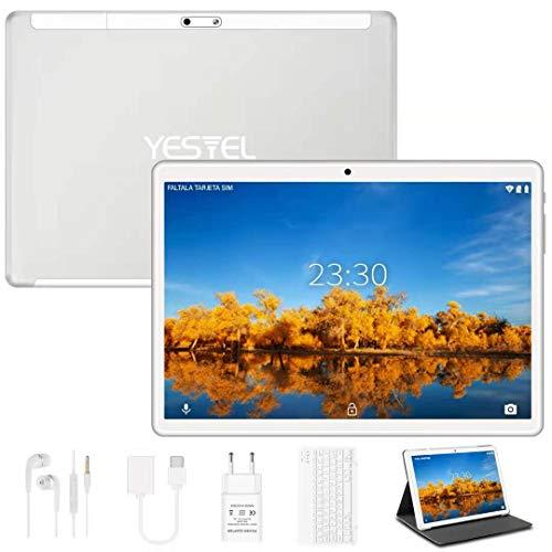 Yestel Tablet 10.1 inch Android 10.0 met 4 GB RAM 64 GB ROM-128G uitbreiding met Quad Core WI-FI Tablet Touchscreen…
