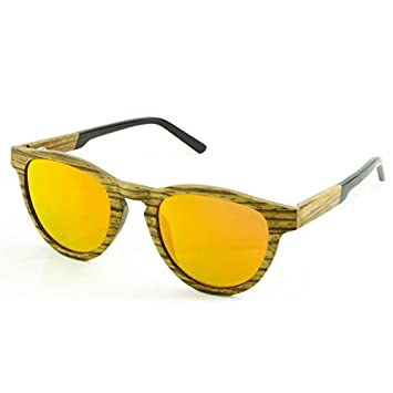 Tommy D. Gafas de sol de madera - Bambú gafas de sol Wayfarer Vintage Style con UV polarizada 400 lentes de protección UV - unisex para hombres y ...