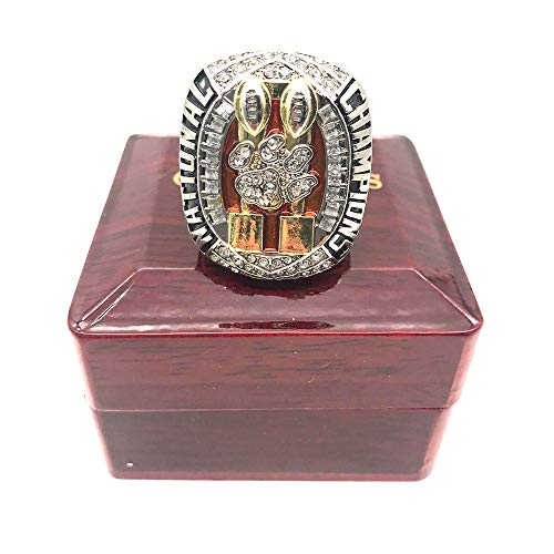 jasperrr 2018 2019 Clemson Tigers Final NCAA National Championship Ring with Display Box Size 11