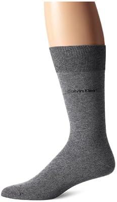 Calvin Klein Men's Giza Cotton Flat Knit Crew Sock