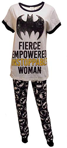 Womens Batman Batgirl Unstoppable Woman Gift Pack Pyjamas Plus Sizes from 8 to 22 (8-10 UK) ()