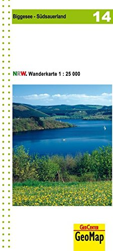 Wanderkarte Biggesee 1:25.000, WK 14