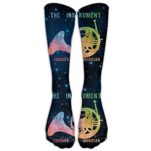 Chair High French (French Horn The Instrument Chooses Casual Unisex Sock Knee Long High Socks Sport Athletic Crew Socks One Size)