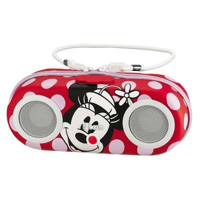 Minnie Mouse Water Resistant Stereo Portable Stereo Sport Case for iPod, Shuffle, MP3 players with built in remote, DM-M133