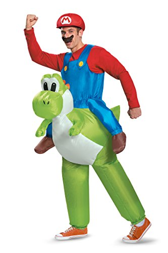 Princess Peach Costume Male (85150 (XL 42-46) Adult Mario Riding Yoshi Costume Super Mario Costume)