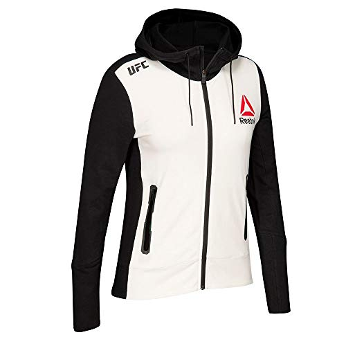 Reebok Men's X UFC Fk Walkout Hoodie, Black/Gravel \ Chalk,S - US