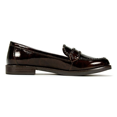 White Mountain Willa Mujeres Loafer Bronce
