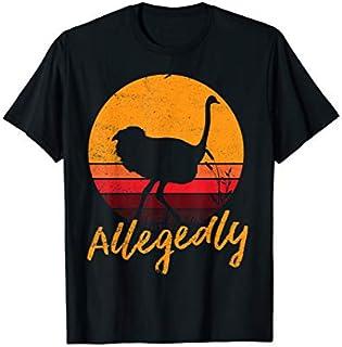 Vintage Allegedly Ostrich Fun Retro Flightless Bird Lover T-shirt | Size S - 5XL