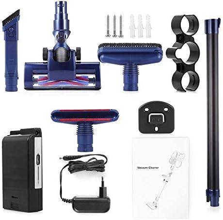 LQPOUXCQ aspirateur balai Bâton de poche sans fil aspirateur avec 3 têtes de brosse de charge rapide forte Aspirateur d\'aspiration