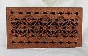 Caja de Madera Tallada a Mano con diseño de popurrí Perforado y ...