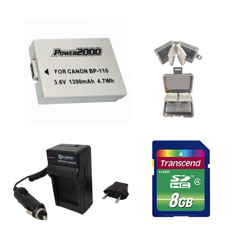 Canon VIXIA HF R20 Camcorder Accessory Kit includes: KSD48GB Memory Card, SDM-1545 Charger, 8SDCASE Memory Card, ACD784 Battery by Synergy Digital