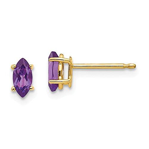 Best Designer Jewelry 14k 6x3mm Marquise Amethyst earring