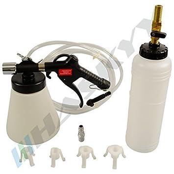 Neumático Sangrador de frenos con Botella de relleno, Sangrador de frenos de vacío neumático CDBEG-15: Amazon.es: Bricolaje y herramientas