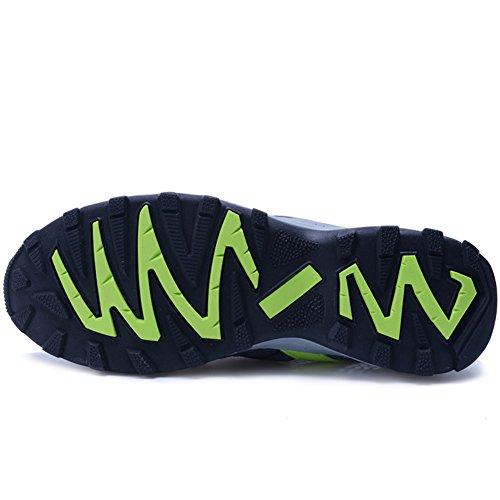 Jeater Damen / Herren Wanderschuhe Outdoor Atmungsaktive Mesh Water Shoes Dunkelgrau