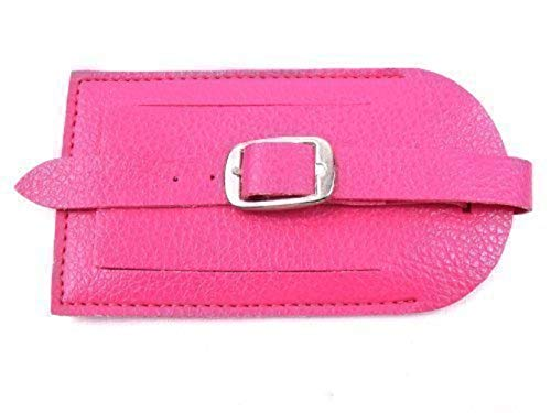 The Leather Emporium Men's Luggage Tags Suitcase Tag Label Address Id Tags One Size Hot Pink (Pink Hot Suitcase)