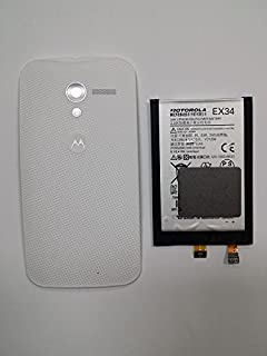 NEW OEM Motorola EX34 SNN5923 Moto X XT1050 XT1055 XT1056 XT1058 XT1060 Battery and White Back