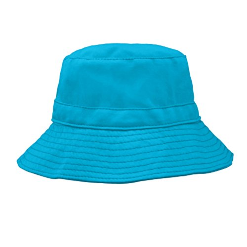 i play. Toddler Organic Cotton Reversible Bucket Hat, Aqua/Light Aqua, 2T-4T Aqua Bucket Hat