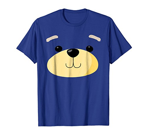 Mens Cute Bear Face Costume Shirt Funny Halloween Teddy DIY Gift 2XL Royal Blue