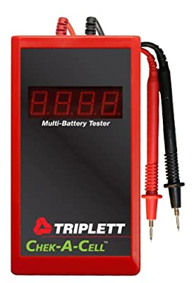 Triplett Chek-A-Cell 3276 Multi-Battery Tester for Small Button Cells to Large Lantern Batteries