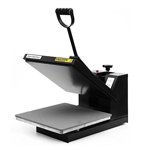 PowerPress Industrial-Quality Digital Sublimation T-Shirt Heat Press Machine, 15'x15', Black