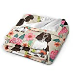YongColer Fleece Blankets for Fall Winter Spring All Season Lightweight Throw for The Bed Extra Soft Brush Fabric Summer Autumn Warm Sofa Blanket (English Springer Spaniel) 7